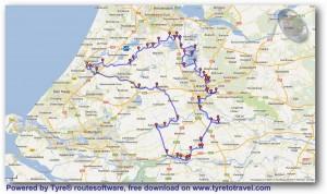 Waterlinie route